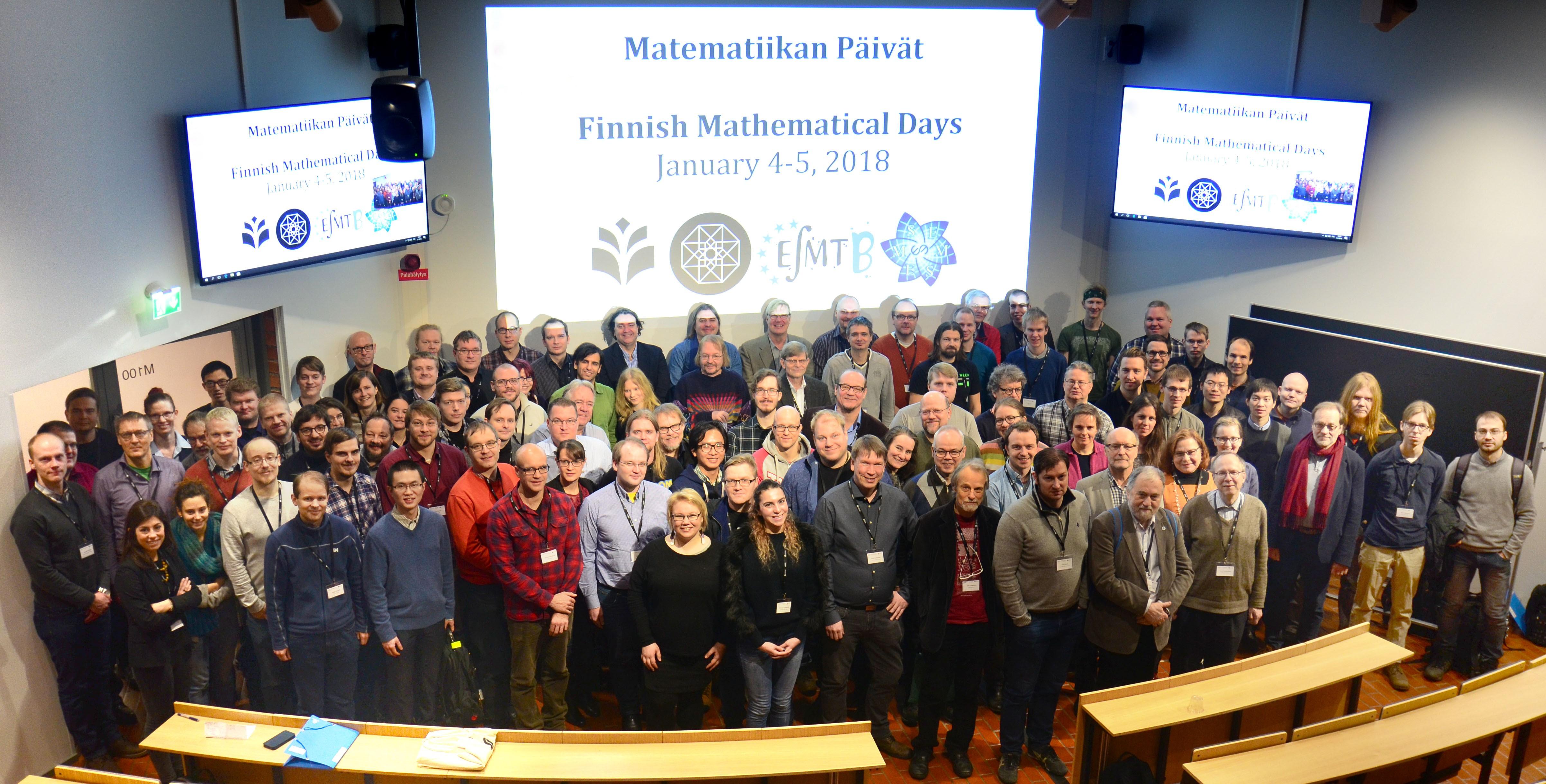 Gruppfoto på deltagarna i Matematikdagarna.