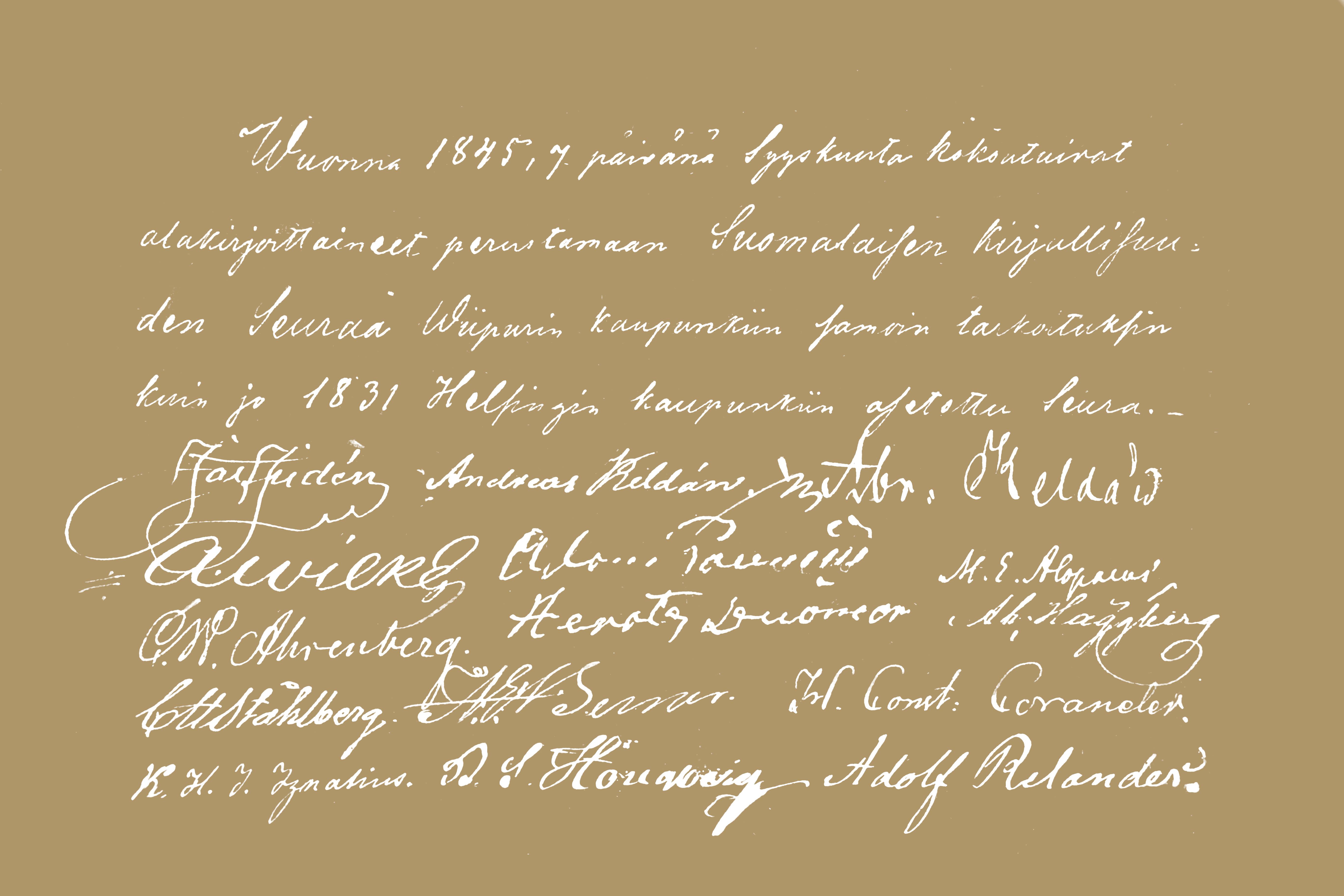 Handskriven text.
