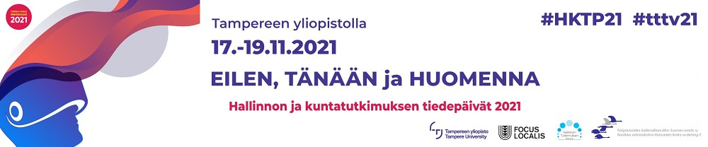 Hallinnon ja kuntatutkimuksen tiedepäivät 2021 -banneri.